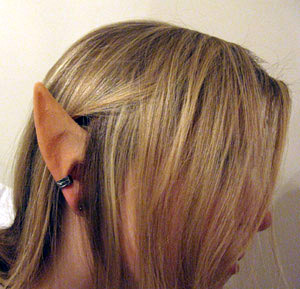 Apply Costume Elf Ears Hiding the seams on your elf ear