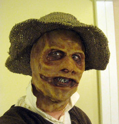 Silicone paint - scarecrow mask