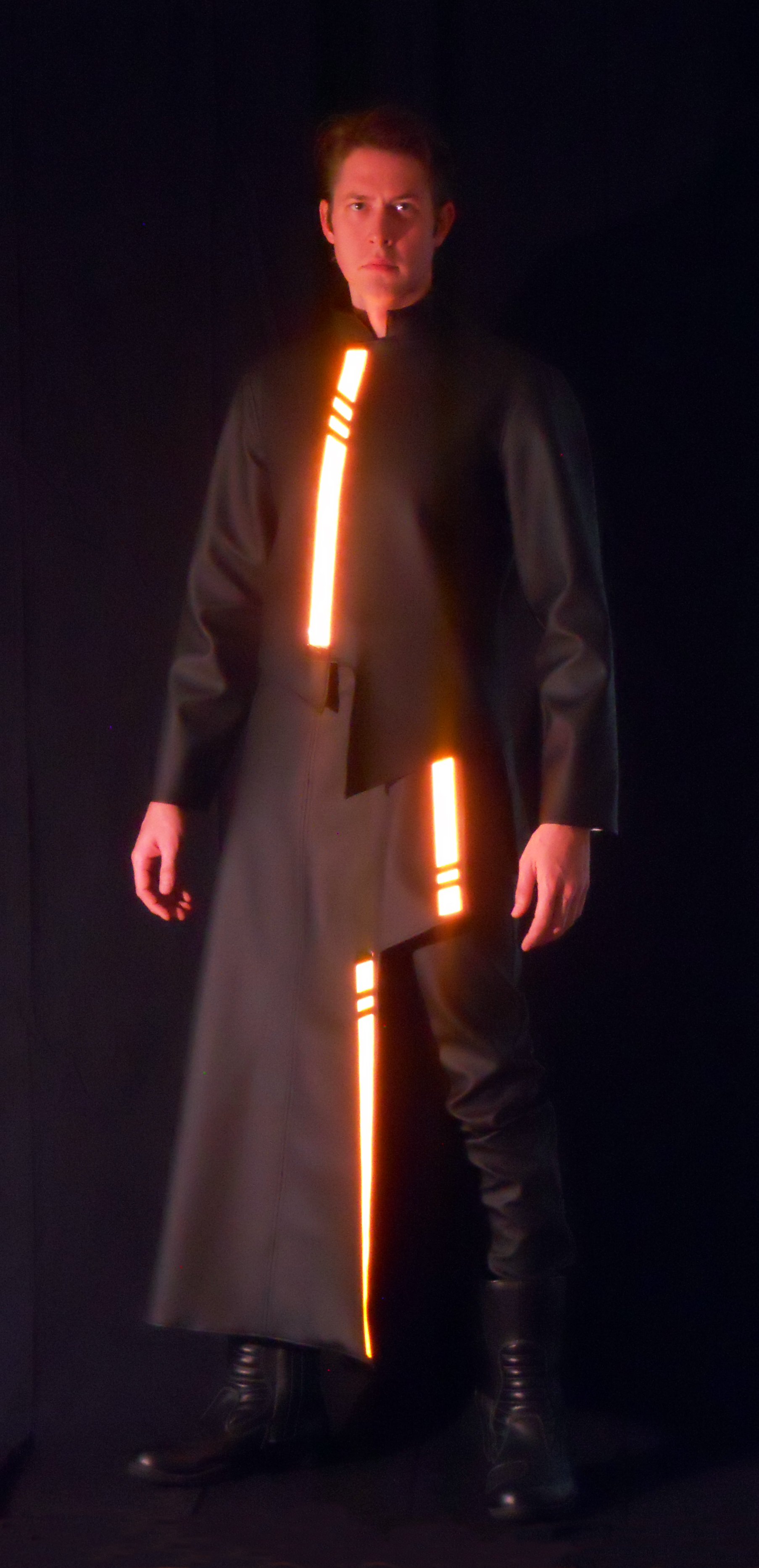 So when Mike and crew started planning their Tron costumes I decided that I wanted to make a simple blue program or maybe even a damaged program (with ... & I am CLU... -