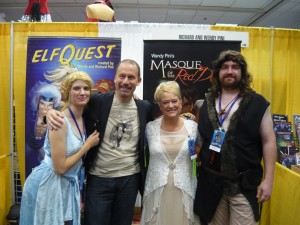 Us with ElfQyest creators - Wendy and Richard Pini!