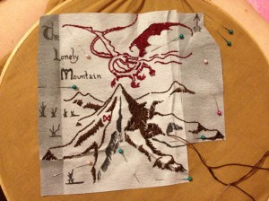 small_Smaug embroidery
