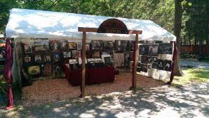 Art tent at the Tennessee Renaissance Festival