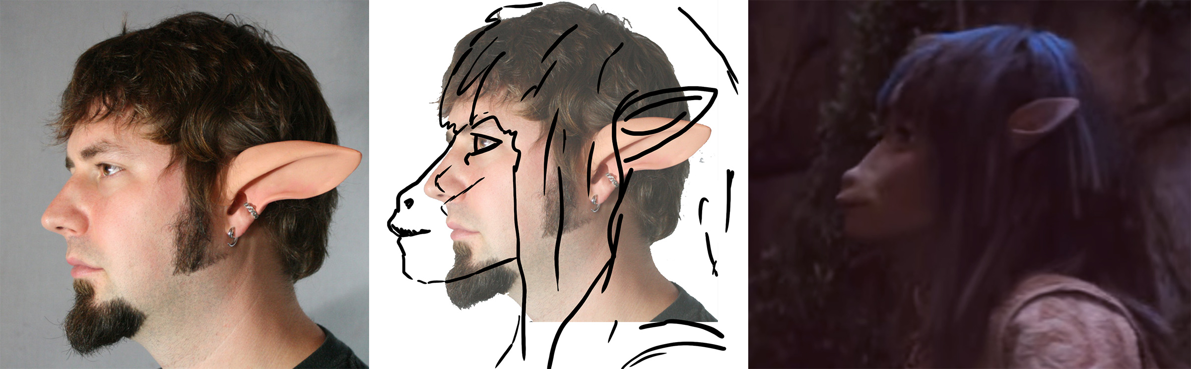 gelfling ears vs faun ears - placement