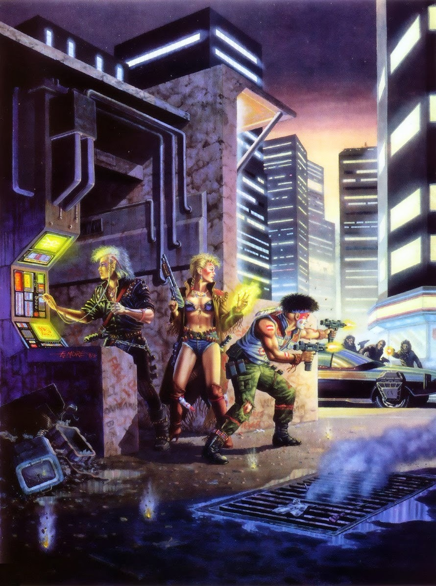 Shadowrun RPG, painting by Larry Elmore