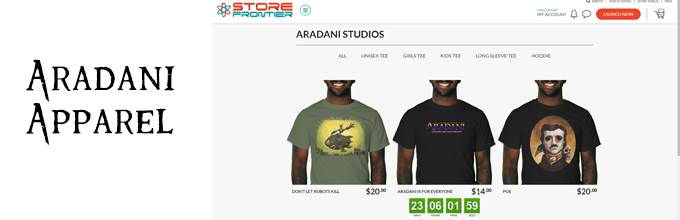 Aradani Shirts and Apparel